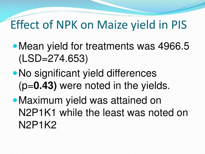 Effect of NPK on