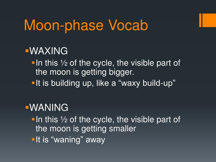 Moon-phase Vocab
