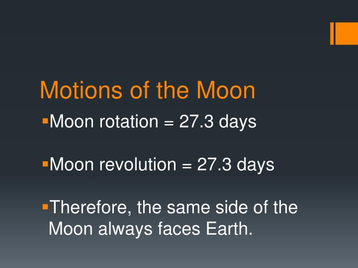 Motions of the moon