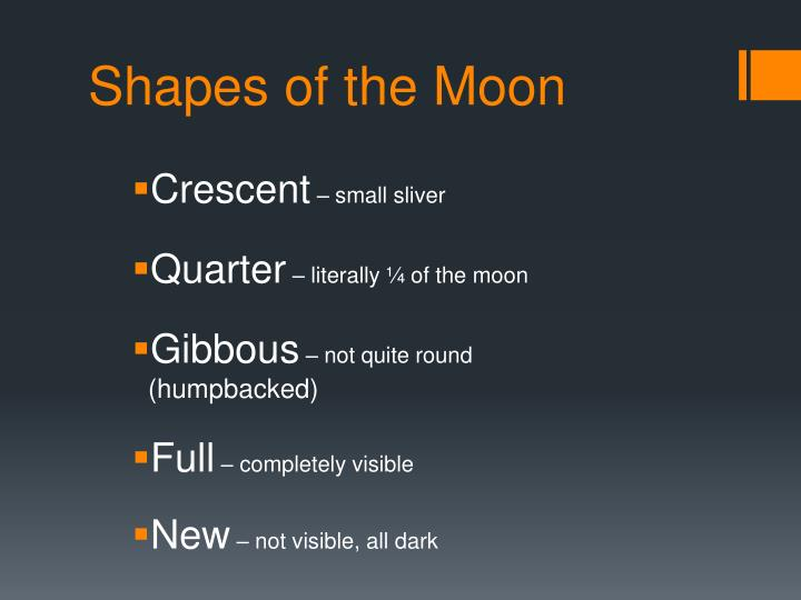 Shapes of the Moon