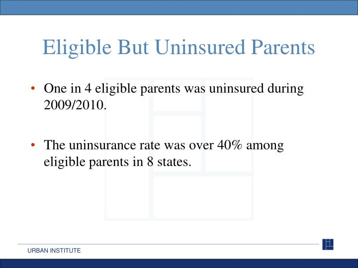 Eligible But Uninsured Parents