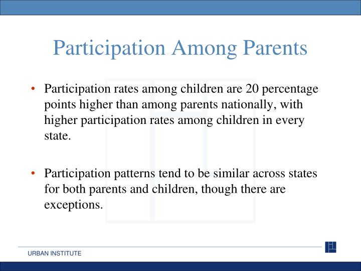Participation Among Parents