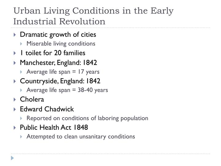 Urban Living Conditions in the Early Industrial Revolution