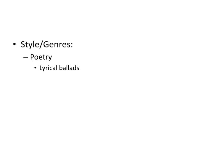 Style/Genres: