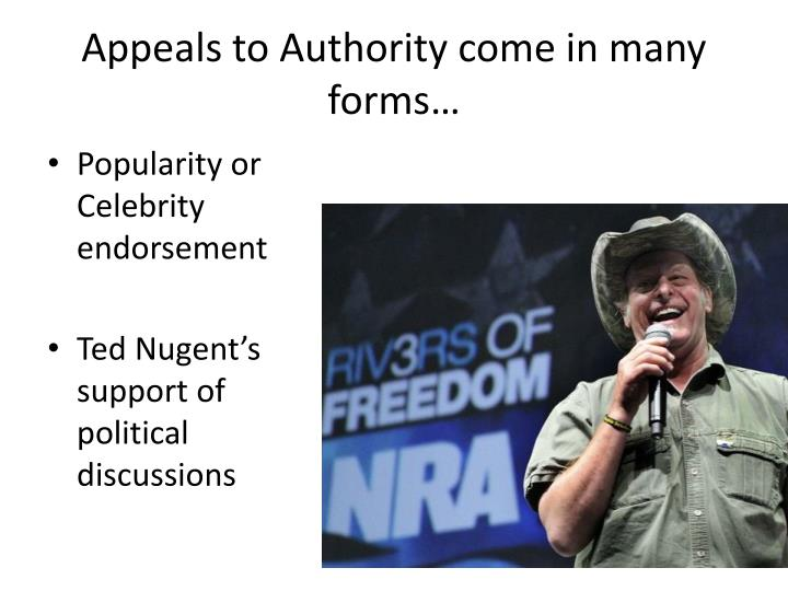 Appeal to Celebrity - Logically Fallacious