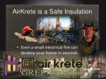 airkrete is a safe insulation