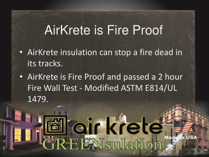 AirKrete is Fire Proof