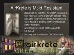 airkrete is mold resistant
