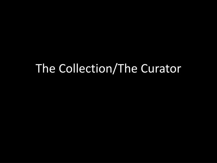 The collection the curator