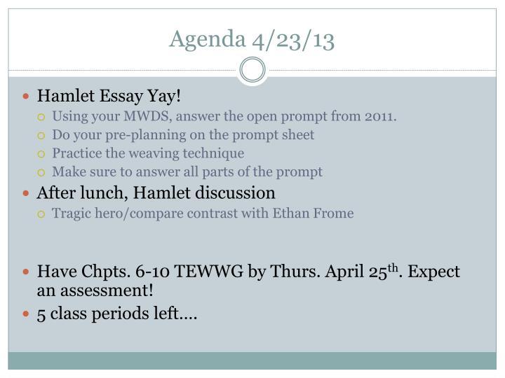 Agenda 4/23/13