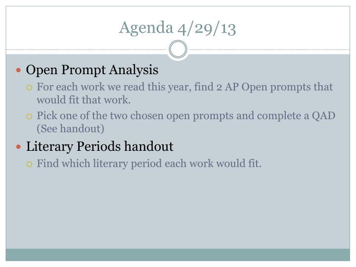 Agenda 4/29/13
