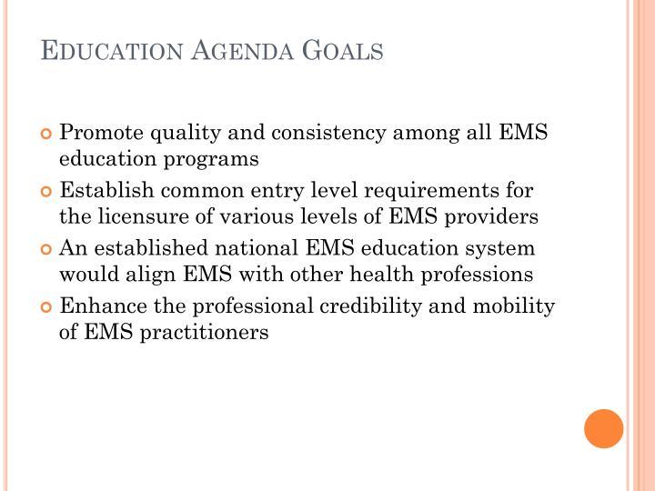Education Agenda Goals