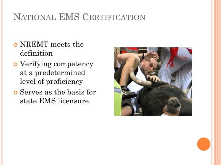 National EMS Certification