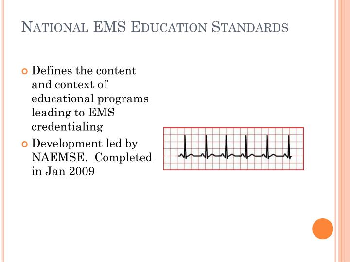 National EMS Education Standards