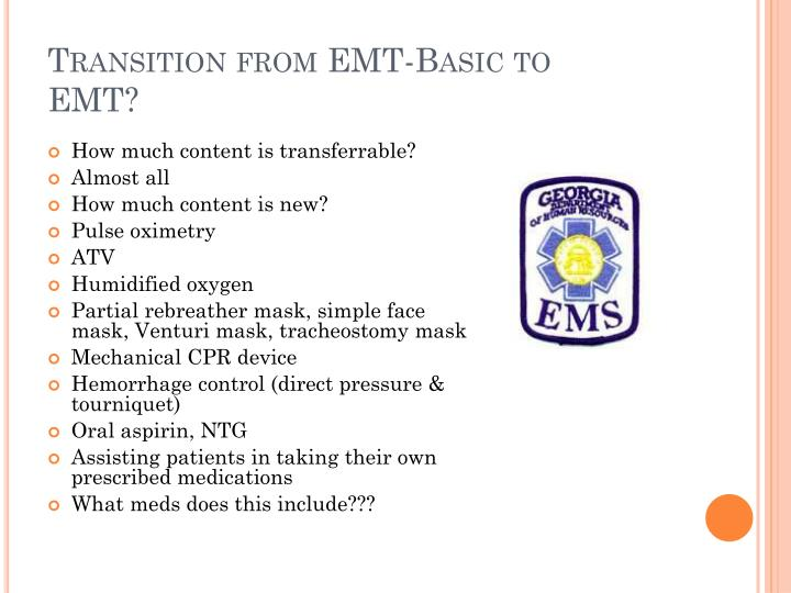 Transition from EMT-Basic to