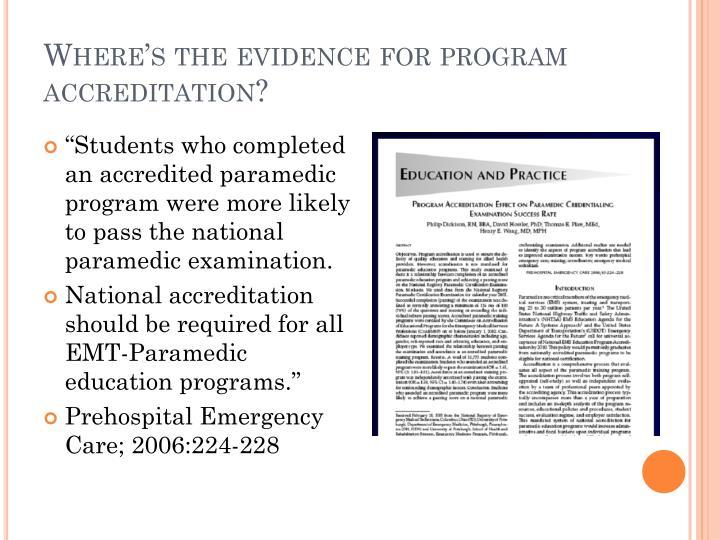 Where's the evidence for program