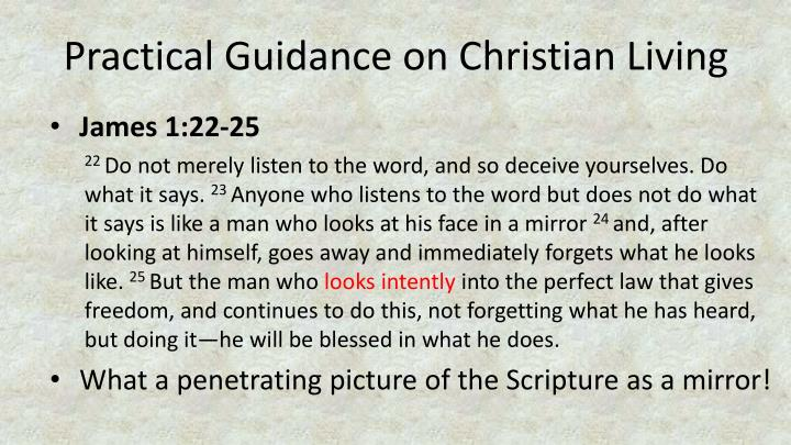 Practical Guidance on Christian Living