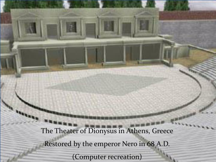 The Theater of Dionysus in Athens, Greece