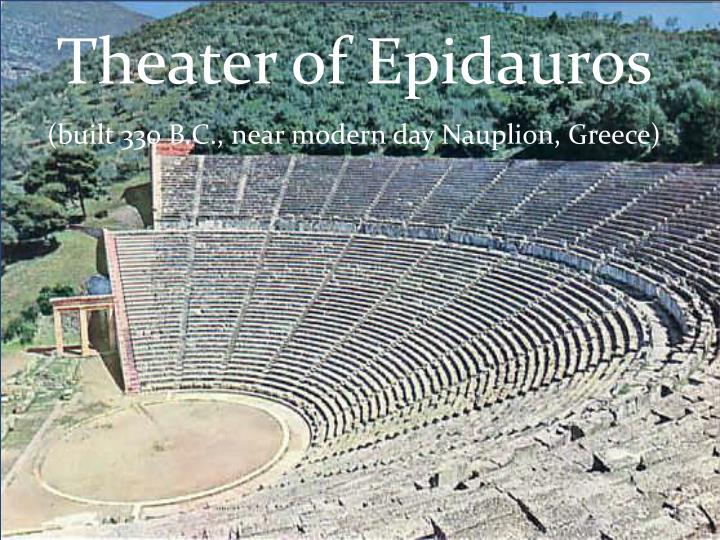 Theater of Epidauros