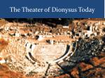 the theater of dionysus today