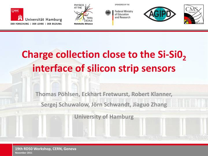 Charge collection close to the si si0 2 interface of silicon strip sensors