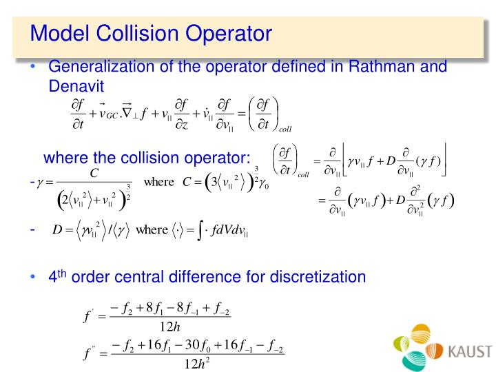 Model Collision Operator
