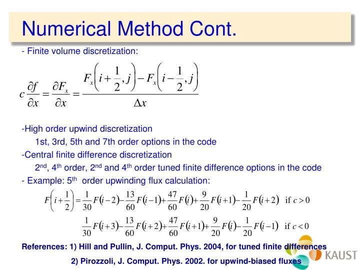 Numerical Method Cont.