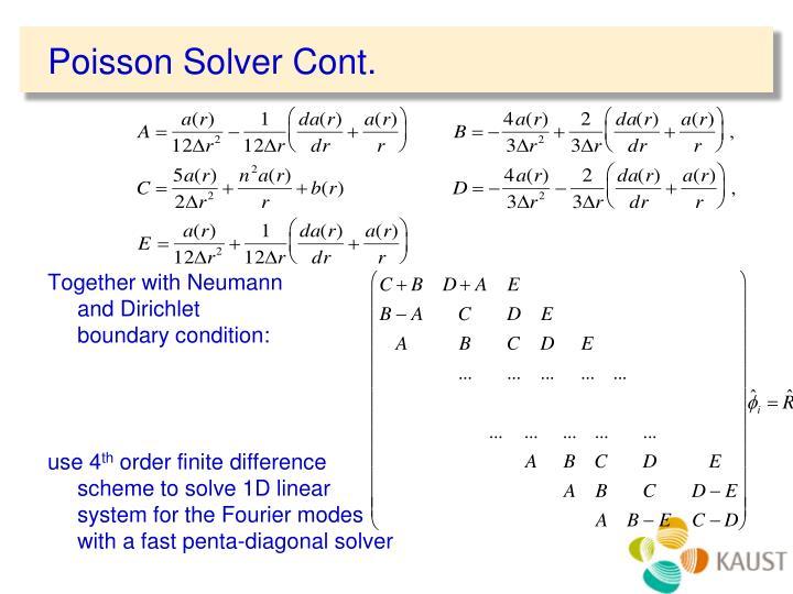 Poisson Solver Cont.