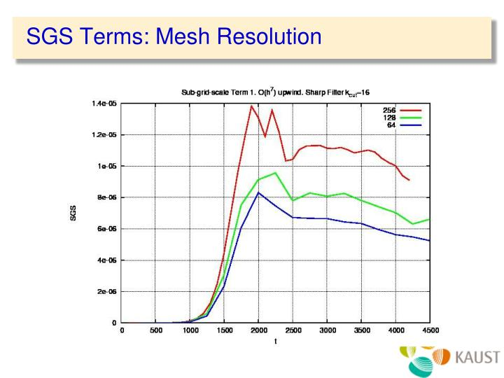 SGS Terms: Mesh Resolution