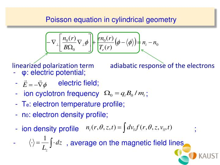 Poisson equation in cylindrical geometry