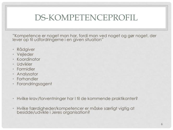 DS-Kompetenceprofil