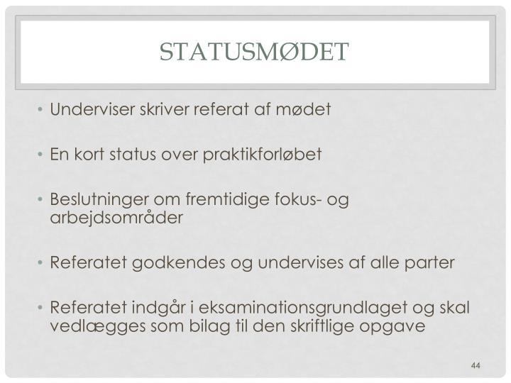Statusmødet