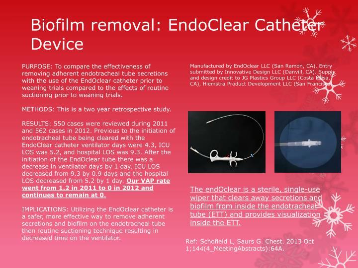 Biofilm removal:
