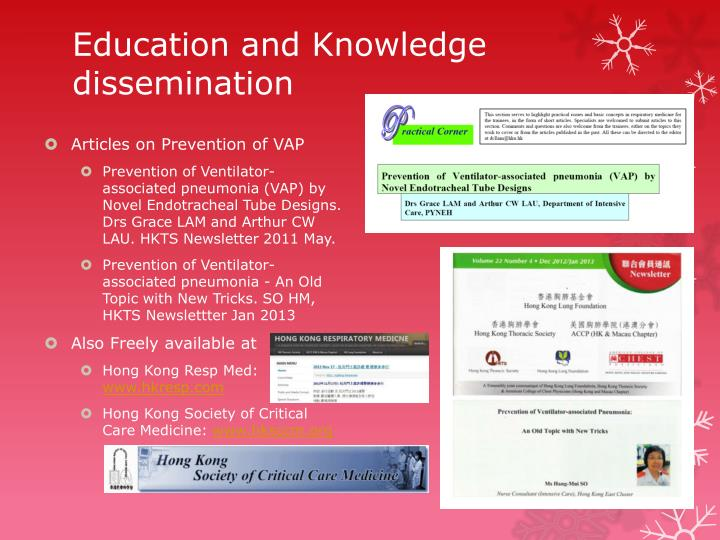 Education and Knowledge dissemination