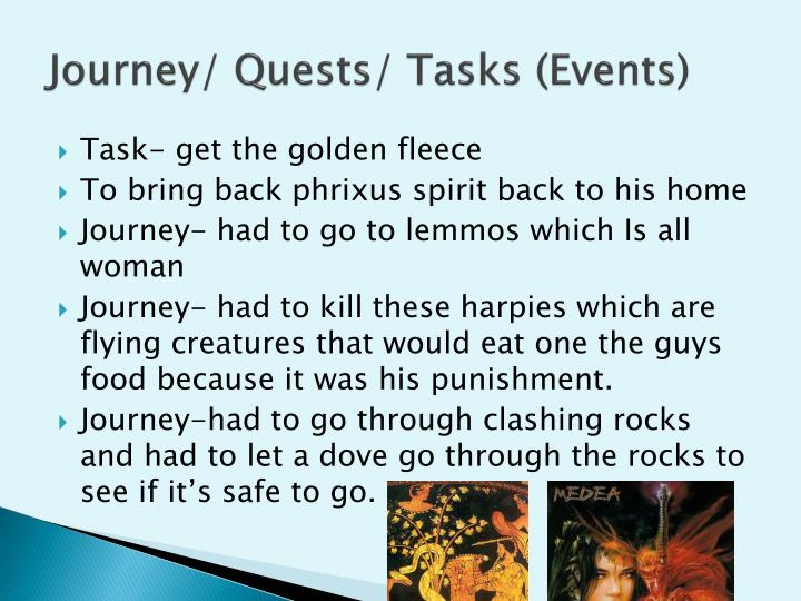 Journey quests tasks events