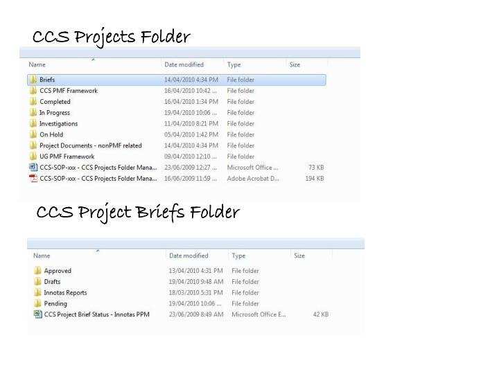 CCS Projects Folder
