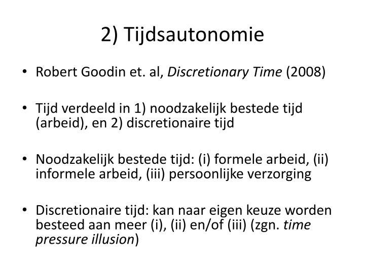 2) Tijdsautonomie