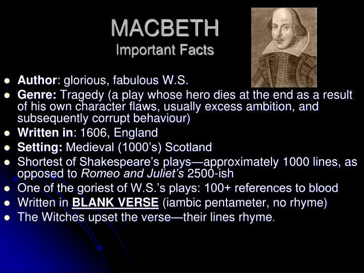 authorship of shakespeares macbeth