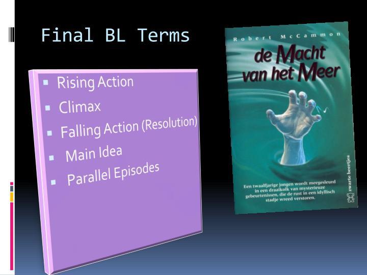 Final BL Terms