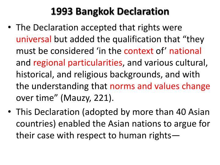 1993 Bangkok Declaration