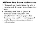 a different asian approach to democracy