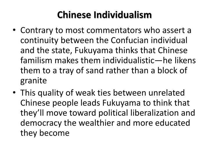 Chinese Individualism