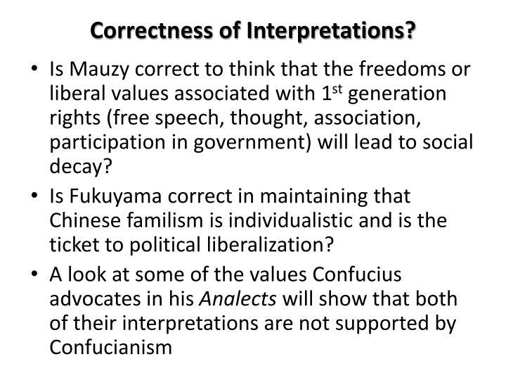 Correctness of Interpretations?