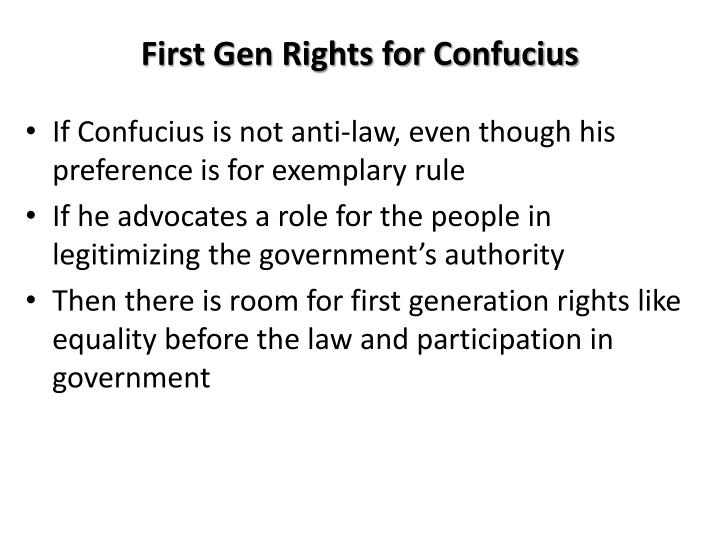 First Gen Rights for Confucius