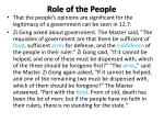 role of the people