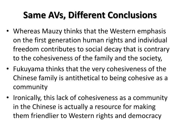 Same AVs, Different Conclusions