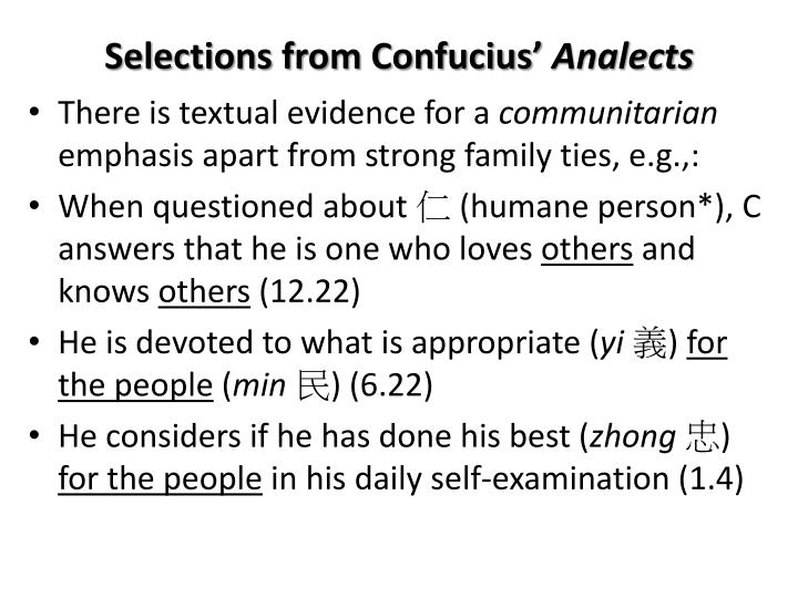 Selections from Confucius'
