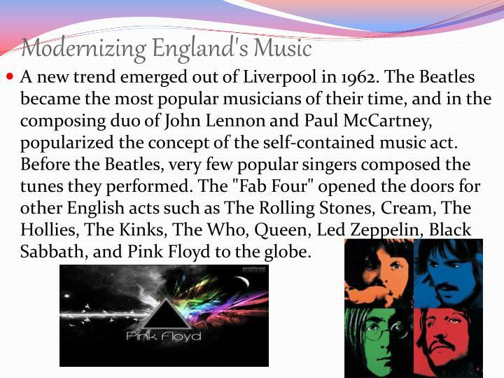 Modernizing England's Music