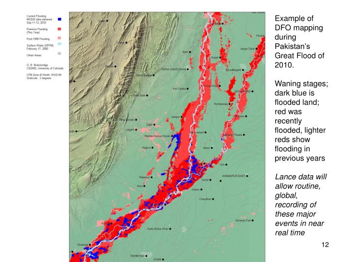 Example of DFO mapping during Pakistan's Great Flood of 2010.