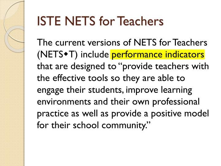 ISTE NETS for Teachers